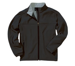 Charles River Soft Shell Jacket - Black and Vapor Gray