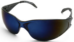 Kirova Safety Glasses with Blue Mirror Lenses