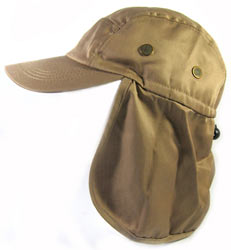 Baseball-Style Sun Hat with Ear Flaps and Neck Shade